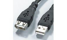 USB 2.0 кабел, тип A - A, M/F, удължителен, 3.0 м