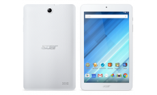 """Tablet Acer Iconia B1-870-K3F9 (White) WiFi/8.0"""" WXGA IPS HD (1280x800) 16:10/ MTK MT8167 quad-core Cortex A35 1.3 GHz/1GB/16GB eMMC/Cam 2.0 MP front, 5.0 MP rear/BT 4.0/GPS/G-sensor, Micro USB, microSD™/1-cell battery/Android™ 7.0 (Nougat)/White (re"""