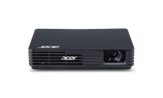 Projector Acer C120 LED (Black), Resolution: WVGA (854x480), max. WXGA (1280x800), Format: 16:9, Contrast: 1 000:1, Brightness: 100 lumens, Power over USB, Display over USB, Quick Start, Focus Control, Ultra-light and portable, 180 g, 120x82x26mm, Gl