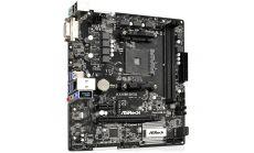ASROCK Main Board Desktop AM4 A320, 2xDDR4, 1xPCI-E x1, 1xPCI-E x16, DVI-D,  4 SATA3, 1 Ultra M.2 NVMe , 6 USB 3.0 (2 Front, 4 Rear)