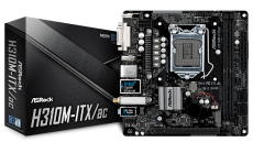 ASROCK Main Board Desktop H310 (S1151, 2xDDR4, 1xPCIe x16,SATA3, 1xM.2,GLAN,DVI,HDMI,DP,USB 3.1 ) miniATX retail