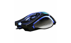 Mишка AULA SI-9005 Catastrophe Gaming Mouse Optical, Adjustable DPI 750/1750/3000/5000, Fully programmable buttons, 125/250/500/1000 Hz return rate, 7 вида подсветка, 20 million clicks, USB,wired, Black