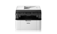 Laser Multifunctional BROTHER MFC1910W, 20 ppm, 2400x600 with HQ1200, 802.11 b/g/n (WLAN), 150 paper input tray, Fax with& without PC, Scan to E-Mail/Image/File