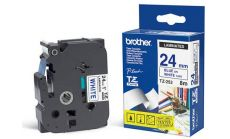 TZ Tape BROTHER 24mm Blue on White, Laminated, 8m lenght, for P-Touch