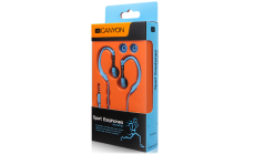 Canyon sport earphones, over-ear fixation, inline microphone, blue