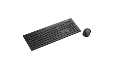 Multimedia 2.4GHZ wireless combo-set, keyboard 105 keys, slim and brushed finish design, chocolate key caps, BG layout (black); mouse adjustable DPI 800-1200-1600, 3 buttons (black)