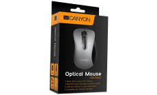 CANYON Mouse CNE-CMS3 (Wired, Optical 800 dpi, 3 btn, USB), Silver
