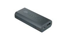 CANYON Power bank 4400mAh (Color: White), built-in Lithium-ion battery, output 5V2A, input auto-adjust 5V1A-2A, Dark Gray
