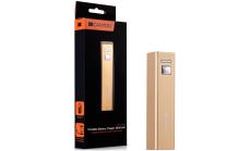 CANYON CNE-CSPB26GO Aluminium compact battery charger. Color: golden, Capacity: 2600mAh, Output: DC5V 1A, Input: DC5V 1A Output Charging: 1.5-2 hours, Input Charging: 2-3 hours. Cycle Life: 500 times