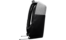 "Backpack for 15.6"" laptop, black and dark gray (Material: 900D Glued Polyester and 600D Polyester)"