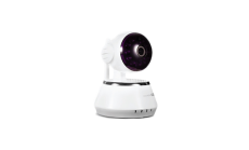 HD IP Camera Indoor surveillance HD camera with wide-angle rotation, white
