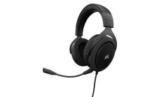 Слушалки с микрофон Corsair Gaming HS50 STEREO Gaming Headset, Carbon, 50mm neodymium speaker drivers, mute control (EU Version)