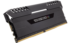 Памет Corsair DDR4, 3200MHz 16GB (2 x 8GB) 288 DIMM, Unbuffered, 16-19-19-36, Vengeance Black Heat spreader, Custom Performance PCB, RGB LED, 1.35V, XMP 2.0