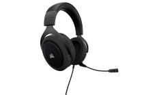 Слушалки с микрофон Corsair Gaming HS50 STEREO Gaming Headset, Blue, 50mm neodymium speaker drivers, mute control (EU Version)