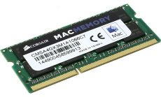 Памет Corsair DDR3, 1066MHz 4GB 1x204 SODIMM, Apple Qualified, Unbuffered