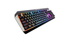 COUGAR ATTACK X3 RGB Cherry MX RGB Mechanical Gaming Keyboard,N-key rollover (USB mode support),Full key backlight (16.8 million colors),Game type-FPS/MMORPG/MOBA/RTS,On-board memory,Aluminum/Plastic,Software COUGAR UIX System,Cable Length 1.8m