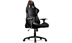 COUGAR Armor Gaming Chair Black, Piston Lift Height Adjustment,180? Reclining,Adjustable Tilting Resistance,3D Adjustable Arm Rest,Full Steel Frame,Ultimate Quality: Class 4 Gas Lift Cylinder