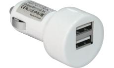 Defender Адаптер за кола UCA-15, 2 x USB, 5V/2A+1А, блистер, бял