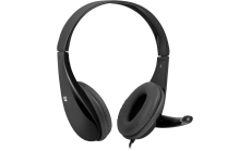 Defender Стерео слушалки с микрофон Aura 111 cable 2 m, Black