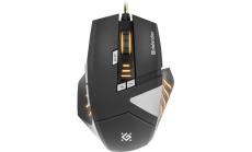 Defender Gaming мишка Warhead GM-1760 optical, 8 бутона, 1000/1500/2000/2500 dpi, 30 IPS, 125-1000 Hz, жична