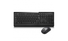 Input Devices - Keyboard DELUX DLK6010G Wireless + Mouse 107GX, Black, Retail