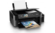 InkJet Printer EPSON L850, Consumer/Plain, Letter, 6 Ink Cartridges, lCMCYlMK, Print, Scan, Copy, Manual, 5,760x1,440dpi, 38Pages/minColor (plain paper), 12Secondsper 10 x 15 cm photo