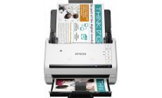 Scanner EPSON WorkForce DS-530, A4, Letter, 600dpi x 600dpi (Horizontal x Vertical), Input: 24BitsColor, 50Pages, Yes, Skip blank page, A3 stitching, Punch holes removal, Automatic de-skew, Automatic multi-document recognition, Dual Image Output
