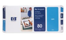 Консуматив HP 80 Standard Original Ink Cartridge; Cyan;  Page Yield 2500; HP DesignJet 1050, 1055