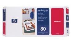 Консуматив HP 80 Standard Original Ink Cartridge; Magenta;  Page Yield 2500; HP DesignJet 1050, 1055