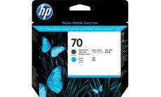 Консуматив HP 70 Standard 1-Pack Original Ink Cartridge; Matte Black + Cyan;  ; HP DesignJet Z2100, Z5200, Z5400