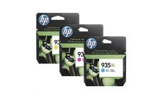 Консуматив HP 935 XL Multipack - 3 Original Ink Cartridge; Cyan\Magenta\Yellow;  Page Yield 825; 50 sheets of HP All-in-One Printing Paper/A4; 25 sheets of HP Professional Matt Inkjet Paper/A4;HP OfficeJet Pro 6830 All-in-One Printer