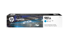 Консуматив HP 981A Standard 1-Pack Original Ink Cartridge; Cyan ;  Page Yield 6000; HP PageWide Enterprise Color 556; 586;