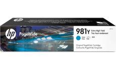 Консуматив HP 981Y Standard 1-Pack Original Ink Cartridge; Cyan ;  Page Yield 16000; HP PageWide Enterprise Color 556; 586;