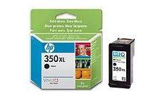 HP 350XL Black Inkjet Print Cartridge with Vivera Ink