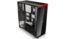 "Chassis In Win 805C Mid Tower ATX Aluminum 3mm Tempered Glass, 3.5""/2.5"" x2 2.5"" x4, USB 3.1(TYPE-C) x1, 3.0 x 1,2.0 x2, HD Audio,120/140mm Fan x2, 120mm Fan x1(Included), 120mm Fan x2, Water-Cooling Ready,Red"