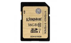 Kingston Карта памет 16GB SDHC Class10 UHS-I full 1080p HD video and 3D video