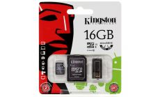 Kingston Multi-Kit / Mobility Kit - Flash memory card ( microSDHC to SD adapter included ) - 16 GB - Class 10 - microSDHC - with USB Reader