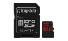 KINGSTON 32GB microSDHC Canvas React 100R/70W U3 UHS-I V30 A1 Card + SD Adptr