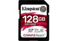 Карта памет Kingston Canvas React, 128GB, Class 10 UHS-I U3