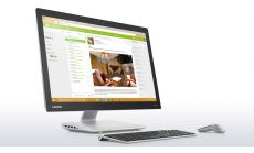 """Lenovo IdeaCentre AIO 910 27"""" FullHD i7-7700T up to 3.8GHz QuadCore, GT940A 2GB DDR5, 8GB DDR4, 2TB HDD 2.5"""" + free m.2 2280 slot, Ext. DVD, WiFi, BT, 3D cam, Silver, Win 10 + Wireless silver keyboard and silver mouse"""