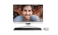 """Lenovo IdeaCentre AIO 520s 23"""" IPS FullHD Touch i5-7200U up to 3.1GHz, GT930A 2GB, 8GB DDR4, 1TB 2.5"""", ext. DVD, WiFi, BT, FullHD cam, Silver, Win 10 + Wireless silver keyboard and silver mouse"""