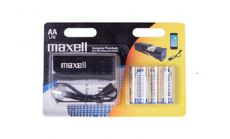 Maxell emergency power bank  + 4 батерии AA LR6 алкални MAXELL
