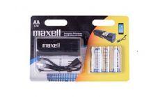 Maxell emergency power bank  + 4 батерии AA LR6 алкални MAXELL