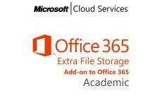 MICROSOFT Office 365 Extra File Storage, Academic, Volume License Subscription (VLS), Cloud, Single Language Language, Multiple, 1 year