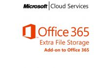 MICROSOFT Office 365 Extra File Storage, , Any, Volume License Subscription (VLS), Cloud, Single Language Language, 1 user, 1 year