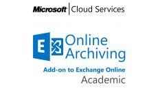 MICROSOFT Exchange Online Archiving, , Academic, Volume License Subscription (VLS), Cloud, Single Language Language, 1 user, 1 year
