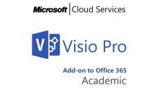 MICROSOFT Visio Professional, , Academic, Volume License Subscription (VLS), Cloud, Single Language Language, 1 user, 1 year