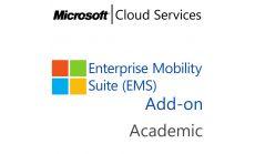 MICROSOFT Enterprise Mobility Suite Add-On, , Academic, Volume License Subscription (VLS), Cloud, Single Language Language, 1 user, 1 year