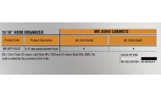 """MIRSAN MR.OKP2U19.01 :: Органайзер за кабели, 2U, 19"""", 5 скоби, за SOHO шкафове, черен"""