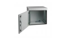 MIRSAN MR.IP55W09U45.02 :: IP55 Outdoor сървърен шкаф - 600 x 450 x 500 мм, D=450 мм / 9U, 100 кг товар, бял, за стена